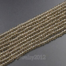 Czech Crystal 2x3mm Faceted Rondelle Loose Glass Beads For Bracelet Necklace