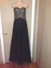 MILANO FORMALS LADIES STRAPLESS BLACK COLOR DRESS SIZE 10.