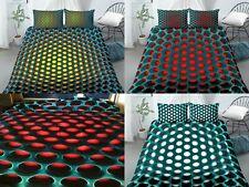 3D Bed Cover Bundle Set Hole Pattern 2/3Pcs Duvet Cover Set  3D Duvet Cover