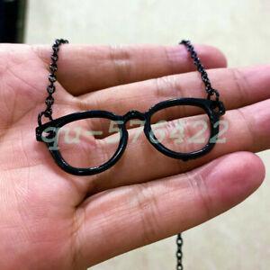 Eyeglasses Black Necklace - Black Jewelry - Spectacles Charm - Glasses Pendant