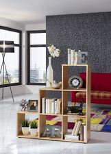 Wilmes: Treppenregal mit 6 Fächer - Raumteiler Bücherregal Stufenregal - Buche
