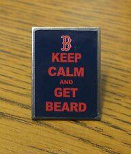 KEEP CALM AND GET BEARD The Boston Red Sox World Series 2013 Baseball Pin W.S.
