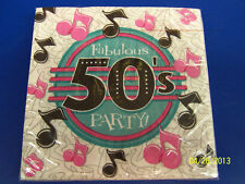 50's Decades Rock N' Roll Sock Hop Diner Retro Birthday Party Luncheon Napkins