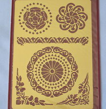 1 Medallions Solid Brass Embossing Stencil by Inkadinkado