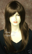 Silky Long Face Frame Wig in Golden Brown /100% Japanese Fibre Brilliant Quality
