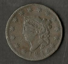 USA Large Size Copper One Cent 1816 NVF
