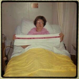 Vtg 1960s Ektachrome 35mm Color Slide University of MN Hospital Cat Eye Glasses