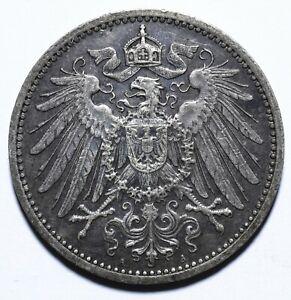 1907 A Germany One 1 Mark - Wilhelm II type 2 - small shield - Lot 616