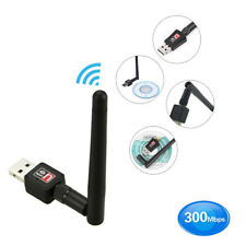 300Mbps 2.4Ghz Wireless USB WiFi Network Adapter w/Antenna 802.11N PKJ