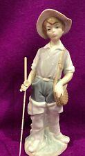 Llardo Figurine Boy Shepherd With Walking Stick 8.5 in high