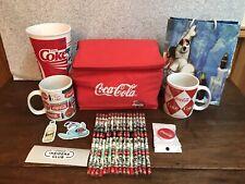 COCA-COLA COLLECTOR LOT Socket Lunchbox Cooler Gift Bag Pencil Mug Cup Coke Pop
