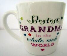 "COFFEE/TEA MUG ""BESTEST GRANDMA IN THE WHOLE WIDE WORLD"" NICE BIRTHDAY GIFT BNIB"