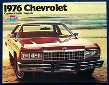 Prospekt brochure 1976 Chevrolet Chevy Caprice Classic + Impala   (USA)