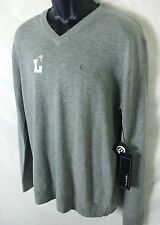 Travis Mathew Men's V Neck Pullover Sweater Merino Wool Blend Size L Gray