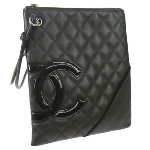 CHANEL Quilted Cambon Line Shoulder Bag 10093937 Brown Leather NR15093