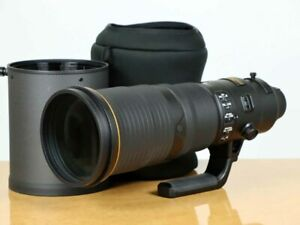Nikon AF-S NIKKOR 500mm F/4E F/4 And FL ED VR Lens w/Case Exc From Japan