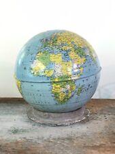 Vintage Metal World Globe Industrial Style Repurposed