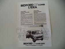 advertising Pubblicità 1977 BEDFORD CF COMBI