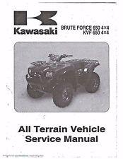 Kawasaki service manual 2005 Brute Force 650 4X4,  KVF650 4X4