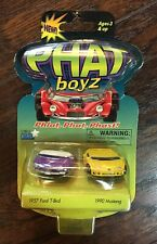NEW PHAT boyz 1957 Ford T-Bird & 1990 Mustang Collectible Die-Cast Metal Cars