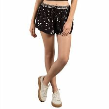 2017 NWT WOMENS VOLCOM GMJ LOUNGE SHORTS $40 S black stars design pull on