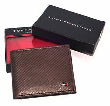 Men's Tommy Hilfiger - Textured Leather Lite Black - Brown Tan Pocket Wallet