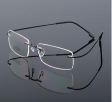 Flexible titanium alloy rimless Eyeglasses Women Men glasses Frames optic Black
