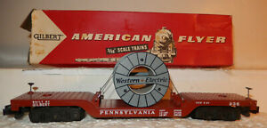 American Flyer Rare NEW 936 Western Electric Reel Car OB Perfect? Condition