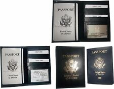 Lot of 3 New USA Leather passport case wallet credit ATM ID card case BN covers