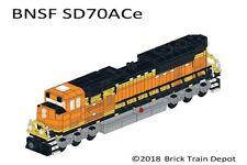 Custom Lego Train Burlington Northern Santa Fe BNSF SD70ACeInstructions-Decals