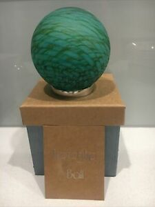 Hand blown Glass Friendship Ball   good friend gift  Shades Of Green 150