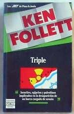TRIPLE - KEN FOLLET - PLAZA & JANES 1990 - VER DESCRIPCIÓN