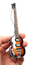 "Miniature Guitar The Beatles Paul McCartney Bass 6"" Ornament Christmas SuperMini"