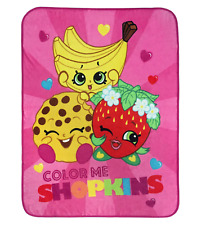 "Shopkins ""Color Me Shopkins"" 46 x 60 Soft Touch Throw Blanket Fleece Nip"