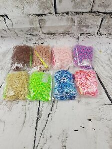 Loom Bands aprox 6400pcs 16 packs Refill Craft Rainbow//Multicolored Brand new