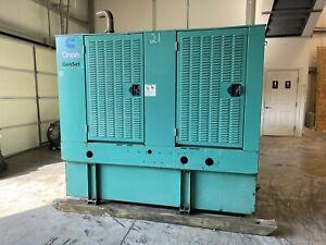 60 KW Cummins Onan Diesel Generator 107 Hours! We Ship!