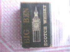 """Ancienne boite d'allumettes vide """"BIG BEN scotch whisky"""" des années 1960/1970 ?"""