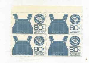 MEXICO EXPORTA SERIES BLOCK OF FOUR OVERALLS  Mint Never Hinged