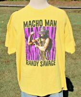 WWF WWE Macho Man Randy Savage T Shirt Adult XXXL Yellow