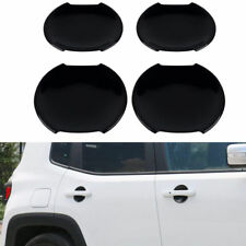 4pcs Door Handle Bowls ABS Black Cover Trim Fits For Jeep Renegade 2015-2018