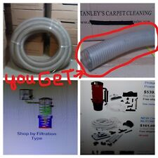 central  vacuum flex tube 2 inch ID  pvc flexible wire reinforce hose 5 feet.