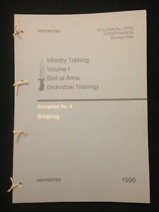 BRITISH ARMY SNIPER TRAINING & ACCURACY INTERNATIONAL L96A1 PAMPHLET MANUAL