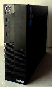 Lot 2 Petites tours Lenovo ThinkCentre Core Intel 5 à 3,3 GHz, RAM 8 Go, 160 Go