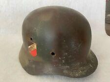 Stahlhelm Wehrmacht M35 WK2 ET 68 Tarnung,Mehrfarbig.Dachbodenfund