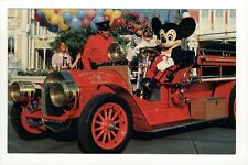 New listing Postcard Disney World The Chief Firehouse Mickey Mouse Newfangled Fire Engine. R