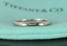 $850 Tiffany & Co PT950 Platinum 2mm Classic Wedding Band Anniversary Ring 5.5