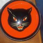 Vintage Halloween Tambourine Black Cat Face T. Conn