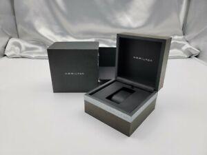 Genuine Hamilton Empty Watch Box Outer Wooden Black 210512008 P158N
