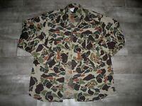 Vintage Walls Camouflage Camo Hunting Work Coat Jak Shirt Jacket Size Men's XL