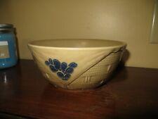 "Pfaltzgraff Folk Art Basket Weave Bowl  7 1/4"""